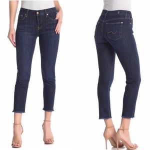 7 for all Mankind, Kimmie Fray Crop Jeans, Sz 24
